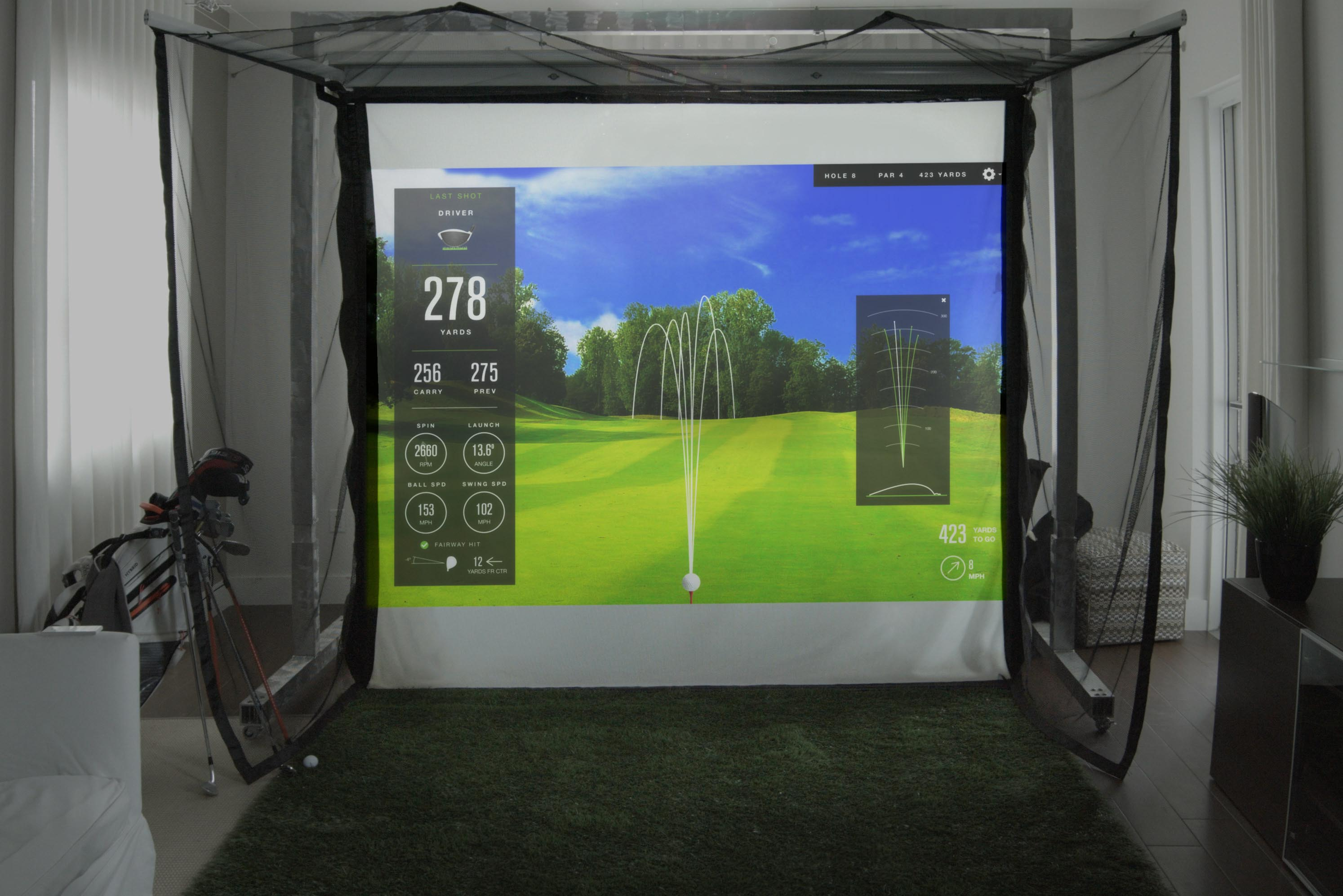 Par2pro 39 s online golf simulator analyzer superstore for Golf simulator room dimensions